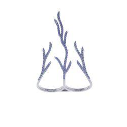 Blue Sapphire Fireburst Designer Ring