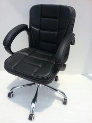 Black Leather Designer Chair