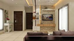 Stone Wall Design With TV