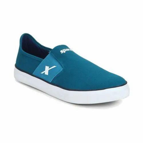 Mens Sparx SM 214 Blue Canvas Shoes at