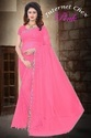 Polyester Saree With Lace Border & Running Blouse Piece