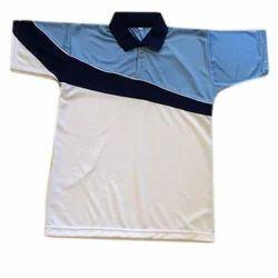 Rice Fabric Collar Sports T-Shirt