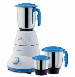 Blue And White Bajaj Bravo Dlx 3 Jar Mixer Grinder