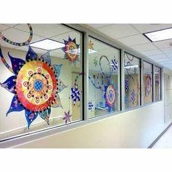 Multicolored Decorative Printed Glass