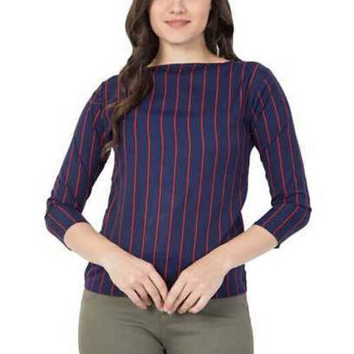 Lining Printed Cotton Top, Size: S-XXL