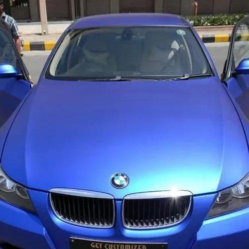 Matte Blue Car >> Blue Car Wrap Vinyl Roll