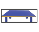 Trends Blue Kids School Play Trapezium Chaunki Table