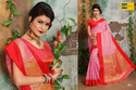 Earth Pink And Red Women Saree