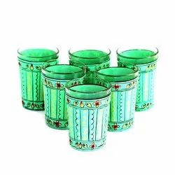 Traditional Handicrafted Tea Glass, Capacity: 150ml, Packaging Type: Box