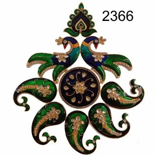 Peacock Folding Metal Rangoli, Packaging Type: Packet, Size/Dimension: 10x10Inch
