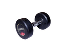 Rubber Chrome Dumbbells