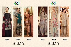 R9 Present Aliza Faux Georgette Pakistani Style Suit Collection Dealer