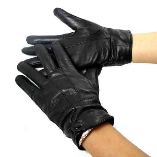 Womens Black Leather Gloves at Rs 180 /piece | Womens ...