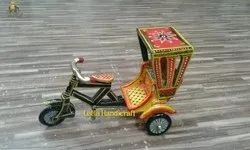 Decorative Handcrafted Wooden Rickshaw