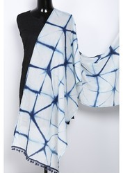 Shibori Tie Dye Handmade Stole