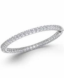 Sheetal Impex 4.80Tcw VS/FG Color  Real Natural Diamonds Stud 18Kt White Gold Diamond Bracelet