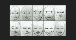 Hobitute Drawing Fourteen Facial Expressions In Cartoon And Realistic Styles
