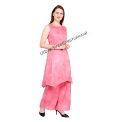 Ladies Plain Kurti with Palazzo Pants