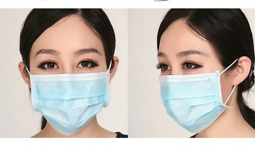 Blue Disposable Non Woven Face Mask, Rs 1.30 /unit Fiona Surgical &  Scientific | ID: 21418682873