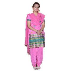 Ladies Cotton Pink Suit, Size: S - XXL