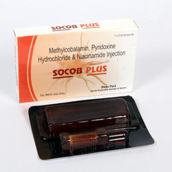 Socob-Plus Methylcobalamin With Pyridoxine Hydrochloride Niacinamide Injections, 1*2 Ml, Packaging Type: Blister