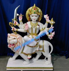Durga Ma Marble Dev Statue