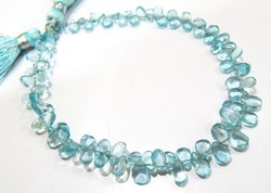 Natural Blue Apatite Smooth beads