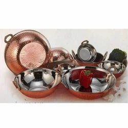 Copper Kadai Set