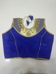 Royal Blue Handwork Blouse