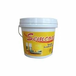 Semcoat 20kg Acrylic Washable Distemper Paint, For Wall, Packaging Type: Bucket