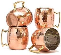 Copper Mule Mugs With Brass Handle