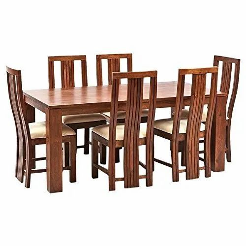 72 X 36 Inch Wooden Dining Table Set