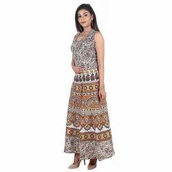 Cotton Elephant Printed Jaipuri Dress 7b5b1eff8