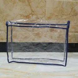 PVC Zipper Rectangular Saree Packaging Bag, Capacity: 80-250 gm