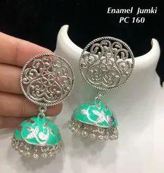 Palash Meenakari Jhumki Earrings