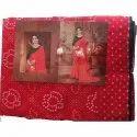 Fancy Printed Chiffon Bandhani Sarees