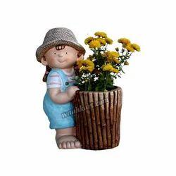 Cute Small Girl Planter
