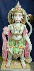 God Statue Hanuman Marble Moorti