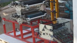 Four Color Flexo Printing Machine with Slitting Sheet Cutter