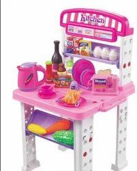 Boys Pink Kitchen Toy Play Set