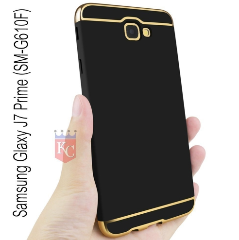 best cheap 9c8ec d15ab 3 In 1 Ultra Thin Hard Coated Matte Surface Back Cover For Galaxy J7 Prime  Black & Gold