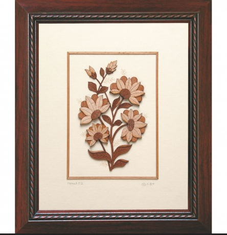 Brown Floral 02 11 X 13 Wall Art, Rs 2700 /piece, Srujan Art Gallery ...