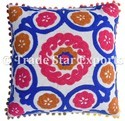 Indian Suzani Embroidery Cushion Cover