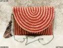 Trendy Jute & Cotton Sling Bag