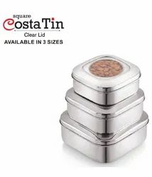 Costa Tin Square and Capsule Lunch Box