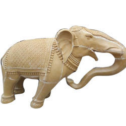 Fiber Elephant Sculpture, For Exterior Decor