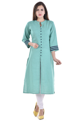 Cotton Middle Slit Type Kurti