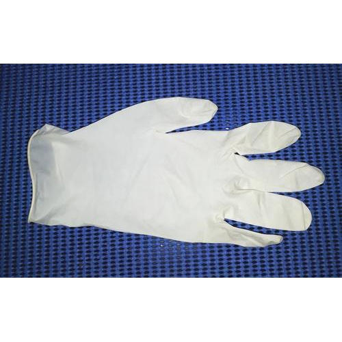 Latex White Disposable Hospital Gloves