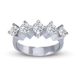 Hot Selling Real Natural Round Diamond Engagement Ring