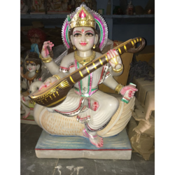 Marble Saraswati God Statue